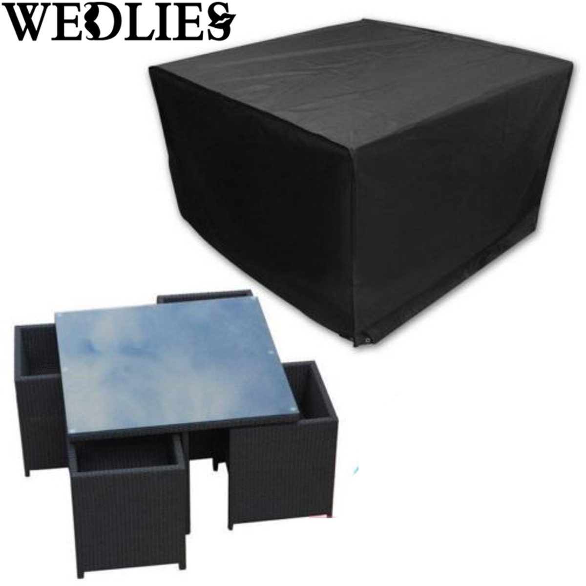 4 Seater Waterproof Outdoor Table Chair Patio Garden Furniture Rain Cover  Polyester Garden Furnishings Table Cloth