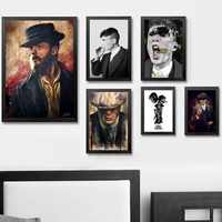 Peaky Blinders Movie TV Wall Art Wall Decor Silk Prints Art Poster Paintings For Living Room No Frame