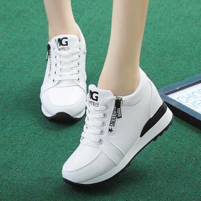 Women Sneakers 2018 Autumn Women Wedges Shoes Fashion Women Casual Shoes Female Height Increasing Platform Walking Shoes