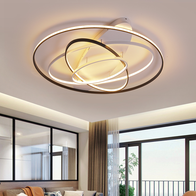 NEO Gleam Round Dimmable Modern Led Ceiling Lights For Living Room Bedroom Study Room Remote Controller Ceiling Lamp Fixtures