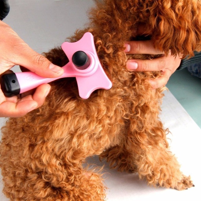 Super Useful Pet Dog Cat Fur Hair Grooming Brush Self Quick Clean Dog Cat Comb Dog Hair Shedding Hair Tool Brush Pet Supplies