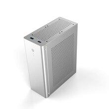Компьютерный чехол Tower PC Gamer Mini ITX Сейф HTPC Чехол настольный игровой полностью алюминиевый тонкий корпус Поддержка GPU нож карта