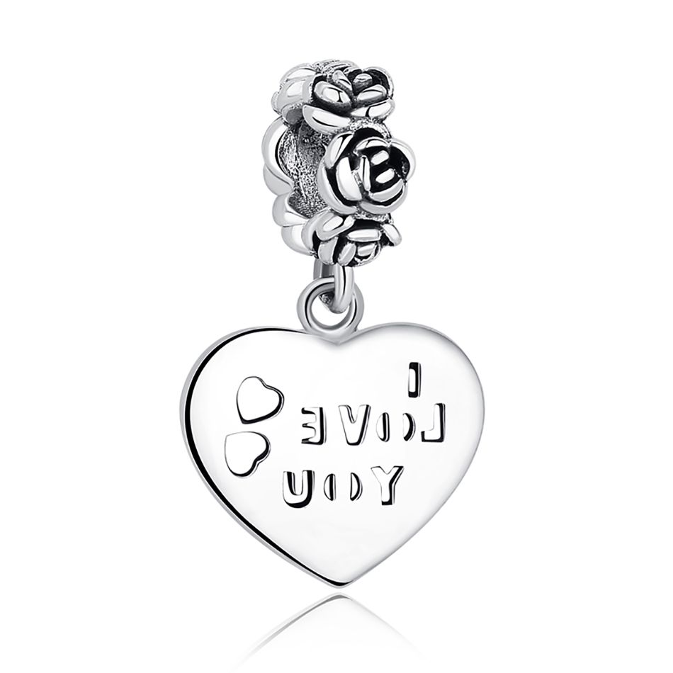 DIY Серебряный Шарм подходят Pandora браслет Бусины стерлингового серебра 925 Любовь мотаться Шарм crystal сердце, цветок, башня, дерево из бисера