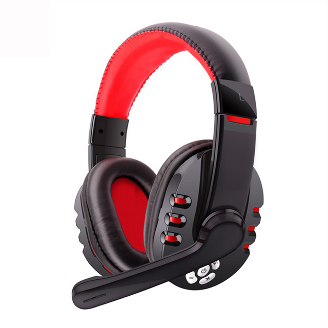 73720c08e10 Bluetooth Headset Gaming Wireless Headphone Game Stereo Earphone with  microphone for iPhone 7 Samsung Sony Android phone