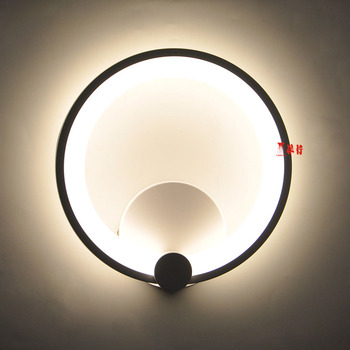 26cm 16W Modern led sconce wall lights for bedroom study living balcony room Acrylic home decoration led wall light lamp fixture
