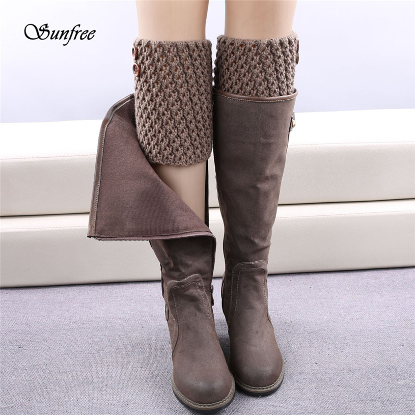 Sunfree 2016 New Design 1 Pair Knitted Hollow Out Twill Leg Warmers Socks Boot Cover Brand New and High Quality Dec 28