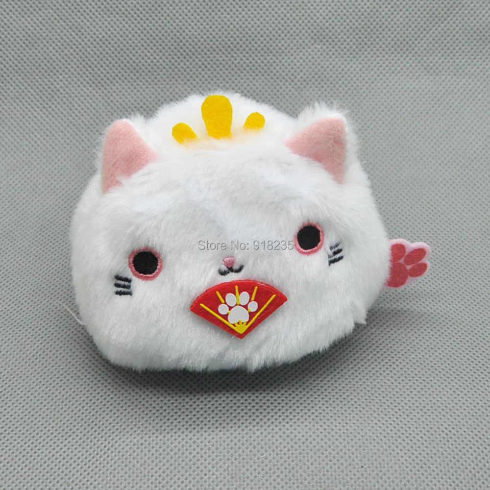 """10/Lot 2 adet/takım Neko Atsume Kedi Arka Kedi 3 """"Miyav Koleksiyonu Dango Mochi Peluş Bebek Dolması Oyuncaklar"""