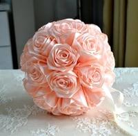 Flower girl kissing ball rose flowers Champage Wedding flower ball rose pomander wedding decoration cinturon flores boda