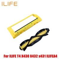 2pcs Original Main Brush Main Roll Middle Brush Cover For ILIFE T4 X430 X432 X431 ILIFEA4