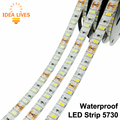 Waterproof 5730 LED Strip Flexible LED Light DC12V IP65 60LED/m 5m/lot Brighter than 5050 5630 LED Strip.