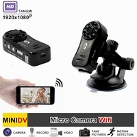 TANGMI Wireless WiFi Night Vision Mini Camera Video Recorder Full HD 1080p DVR DV Motion Detection