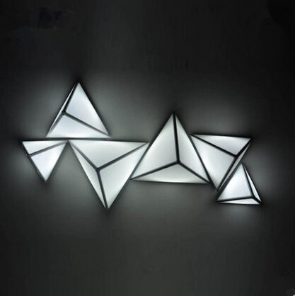 Concise Acrylic Led Ceiling Light Triangle Creative Modern