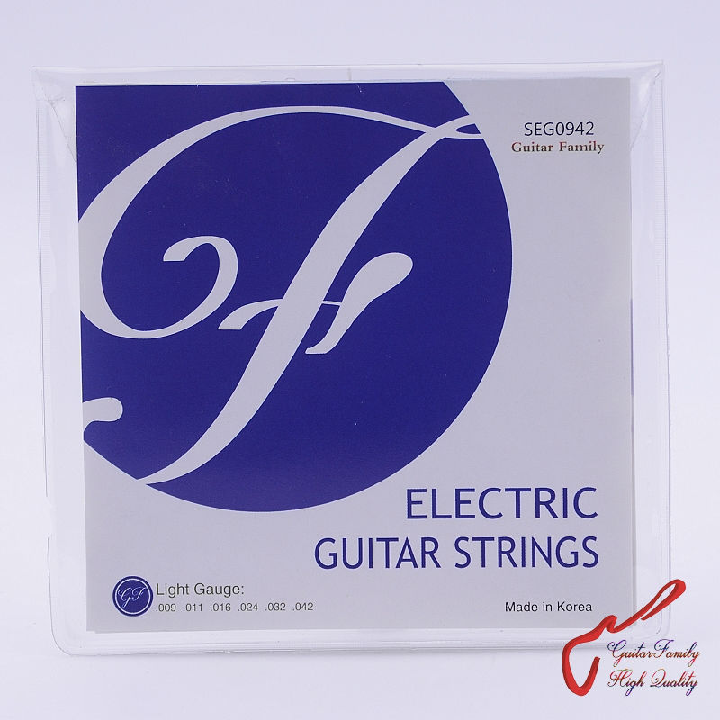 1 Set GuitarFamily SEG  Electric Guitar Strings  009-042 / 010-046 / 011-050 MADE IN KOREA 009 042 electric guitar strings color nickel alloy hat cew730