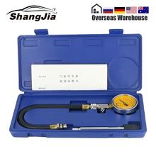 Probador de compresión de cilindro de coche, medidor de presión de motor de gasolina, G324 A, con barra de extensión