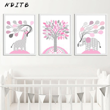NDITB Kawaii Cartoon Canvas Posters Nursery Prints Wall Art Painting Nordic Kids Decoration Pictures Baby Girls Bedroom Decor