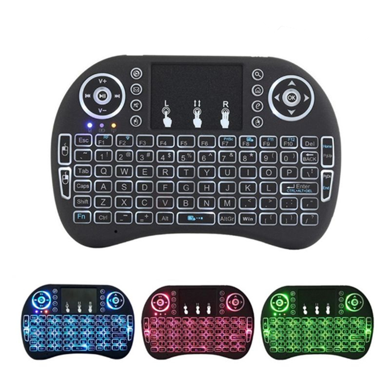 Raspberry Pi Mini Wireless Keyboard 2.4GHz 3Colors Backlight Touchpad Handheld Keyboard For Raspberry Pi 3/RPI 4 Model B