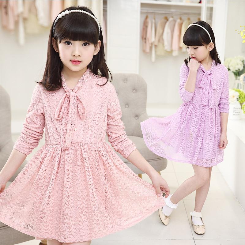 2f98b000a0c1 Fashion 2016 new girls lace t shirt dress children girl Princess kids  school wear age size 4 5 6 7 8 9 10 11 12 13 14 years