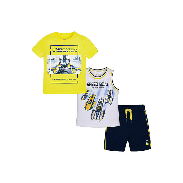 Children's Sets MAYORAL 10678622 set of clothes for kids breeches t-shirt legs shirt shorts girls and boys