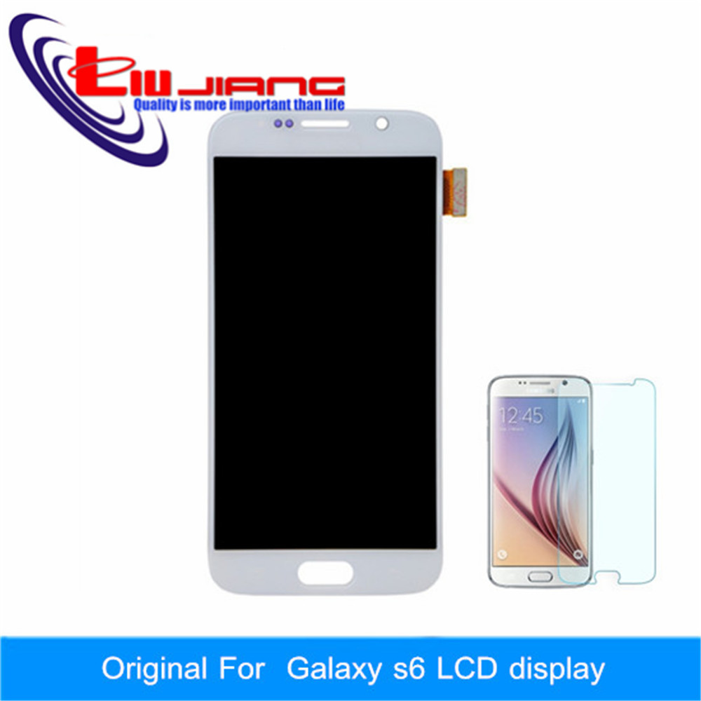 Liujiang Original New Official for Samsung S6 LCD Display Assembly G920f G920i G920A G9200 LCD+Glass film Gift with LOGO