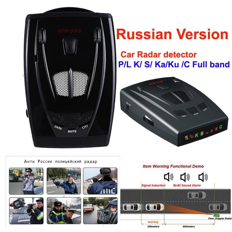 Détecteur de Radar De voiture 535STR Plein Bandes LED Affichage Anti Laser Strelka Vitesse Détection Anti Police Radar Détecteur