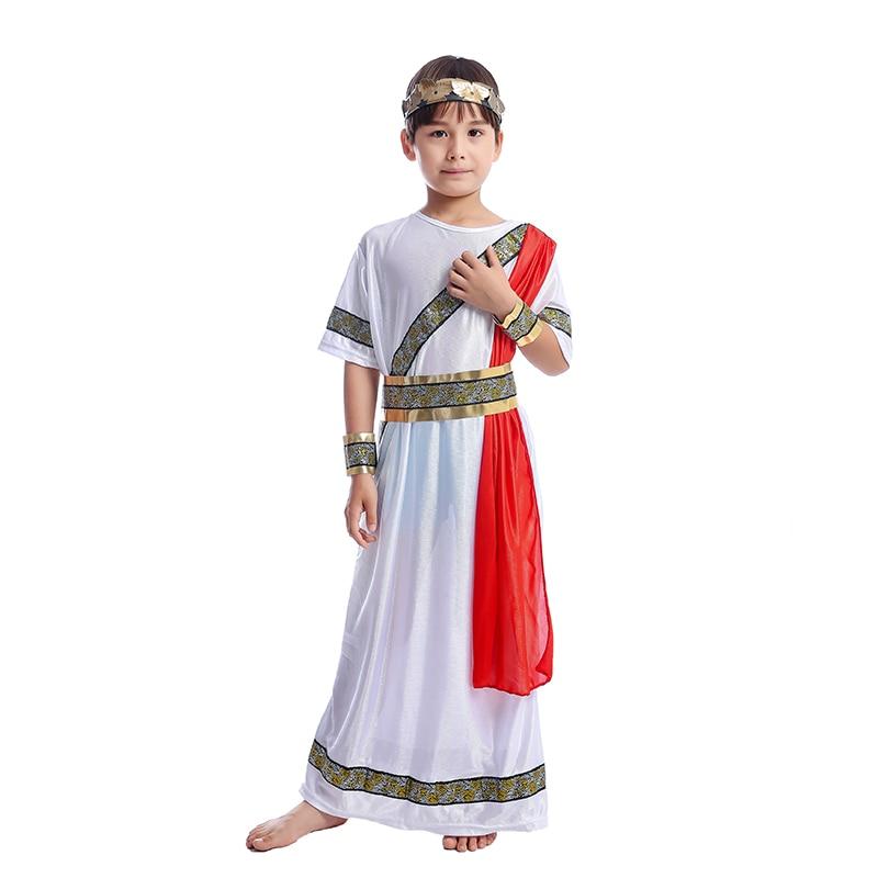 Boys Egyptian King Book Week Historic Fancy Dress Costume School Kids Outfit