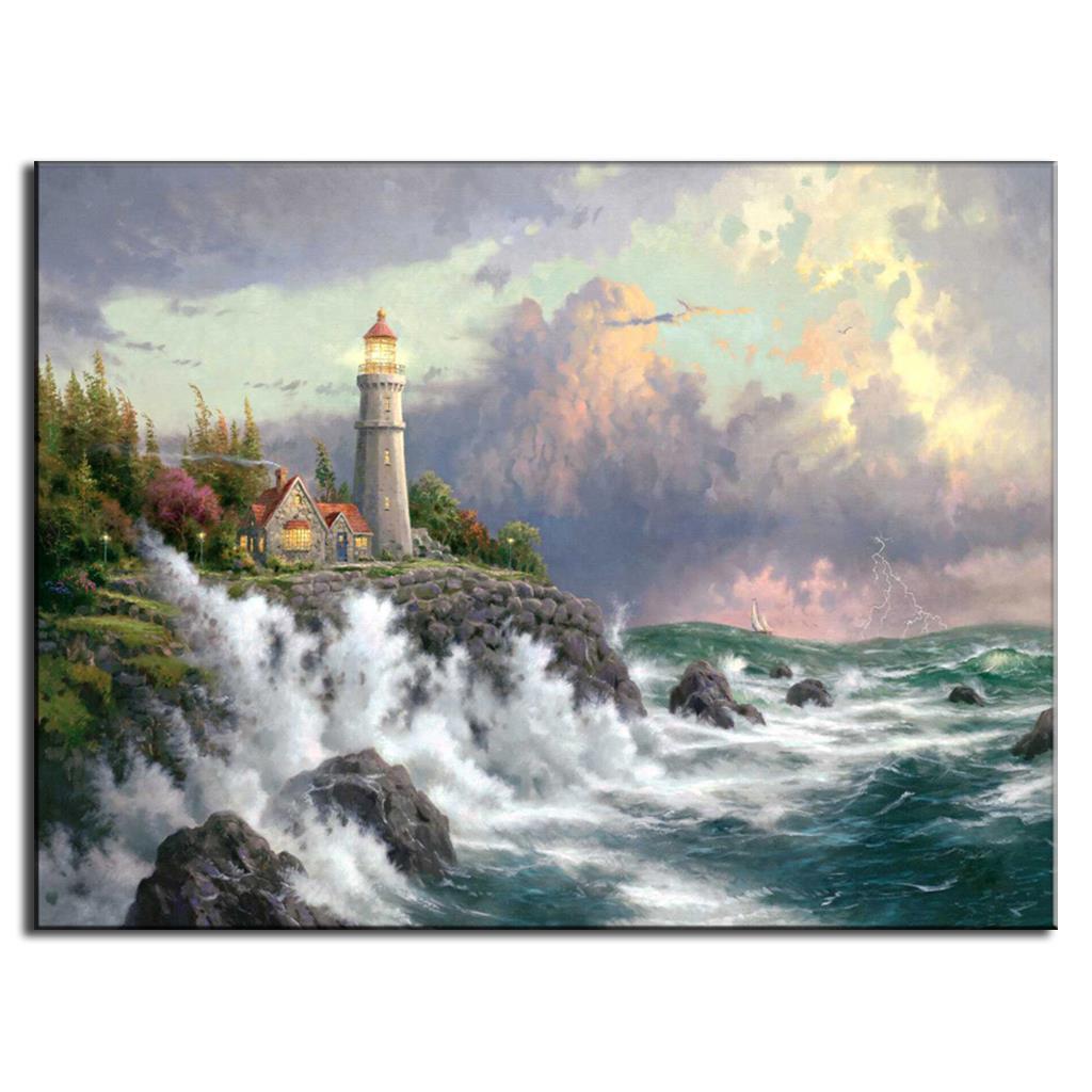 1 pcs landscape oil art canvas painting nature hot sale picture for bathrooms decorations picture frames for bathroom