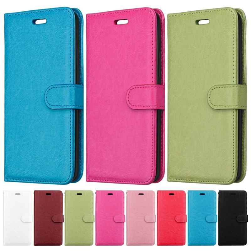 Simple PU Leather Cover For Xiaomi Play 8SE 8 Lite Max 3 Mix 2S Poco F1 Redmi 6A 6 Note 7 5 Pro Y2 S2 Plain Phone Bags Case E08G