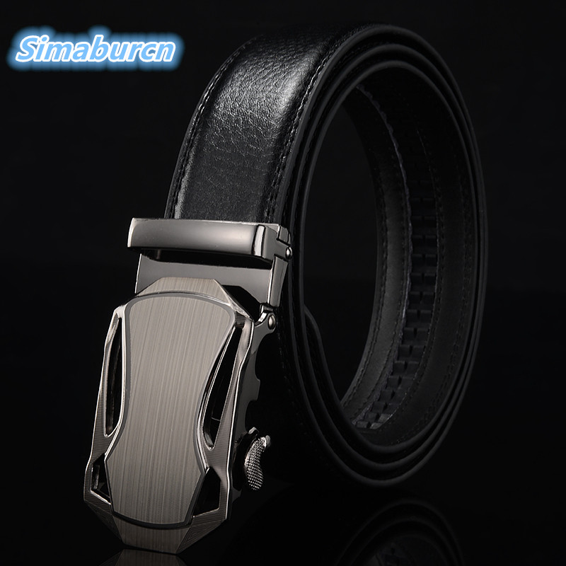 Formal Brand Multicolor Belt Men Good Quality PU Leather Luxury Male 7 Style B Belts For Man Strap Metal Automatic Buckle
