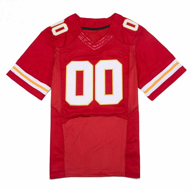 купить Football Jerseys Custom Any Name Any Number White Red Jerseys Stitched Men Football Jersey Free Shipping VIVA VILLA по цене 2437.78 рублей