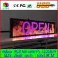 680X190 ММ Программируемый СВЕТОДИОД Прокрутка Сообщение Знак Дисплея led панель Крытый полный цвет Доска