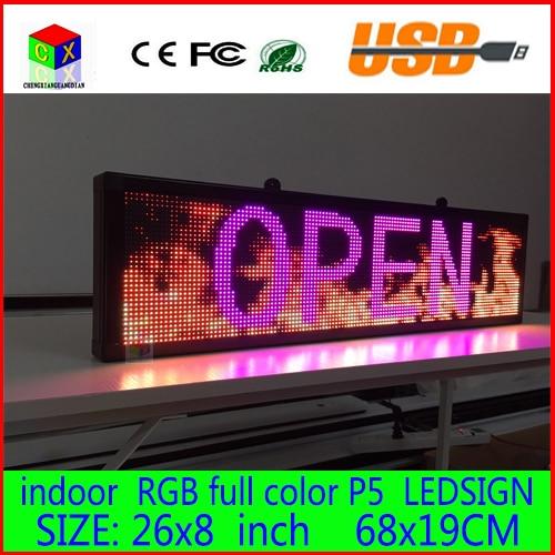 680X190 MM Programmable message défilant LED Signe D'affichage LED panneau polychrome D'intérieur de Conseil LED D'affichage avec la Conception Adaptée Aux Besoins Du Client