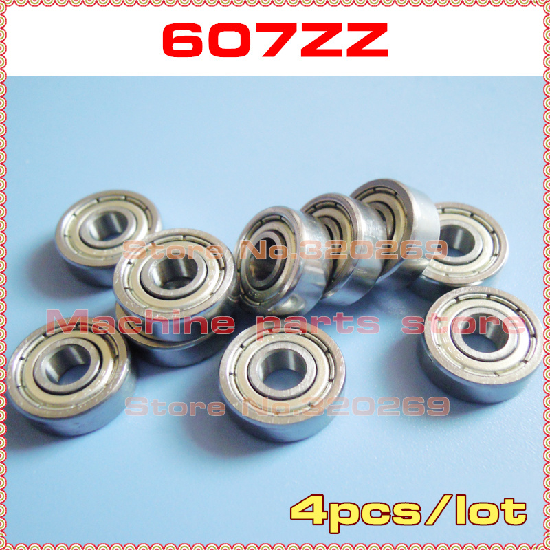 Double Metal Shielded Ball Bearing Bearings 607z 607ZZ 7x19x6mm 10 PCS