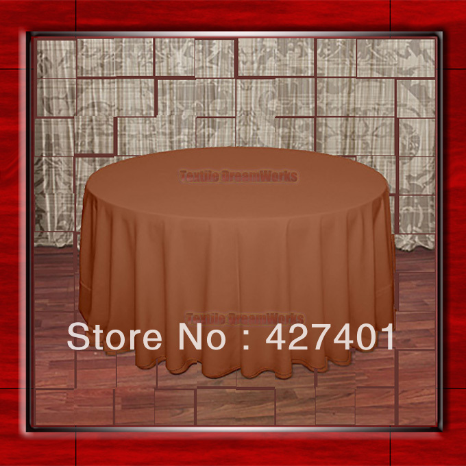 108R Burnt Orange 210GSM Polyester plain Table Cloth For Wedding Events & Party Decoration(Factory Direct Sales)