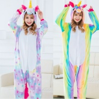 Winter Unisex Animal Cosplay Unicorn Pajamas Woman Adult Onesie Pijama Set Halloween Unicorn Costumes For Women