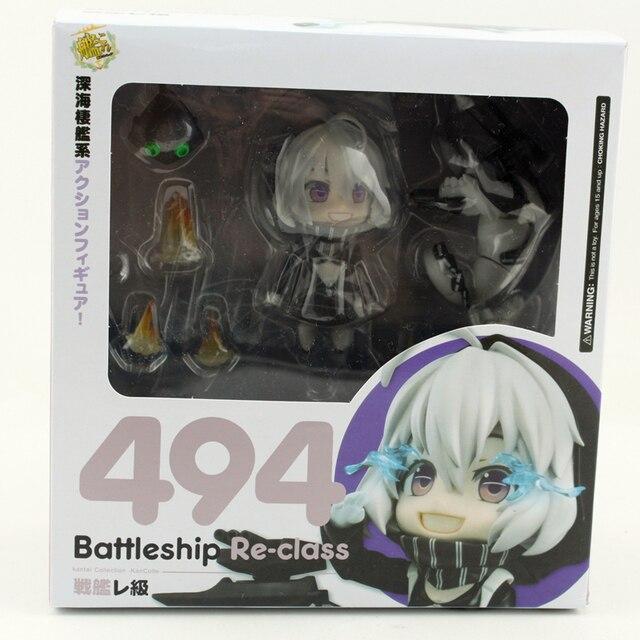 "Anime Cute 4"" Kantai Collection: Kancolle: Battleship Re-Class #494 PVC Nendoroid Action Figure ornaments Original Box kids gift 4"