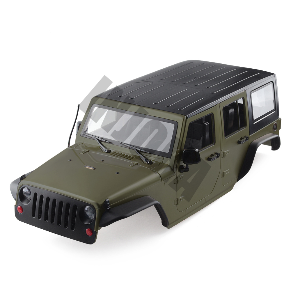 Image 4 - INJORA Unassembled 12.3inch 313mm Wheelbase Body Car Shell for 1/10 RC Crawler Axial SCX10 & SCX10 II 90046 90047 Jeep Wrangler-in Parts & Accessories from Toys & Hobbies