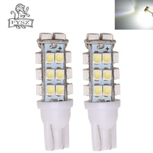 цена на 2Pcs T10 LED 12V W5W 1210 Automobile light bulbs  Clearance Side Wedge lamps t10 28SMD led Tail White Light Bulbs
