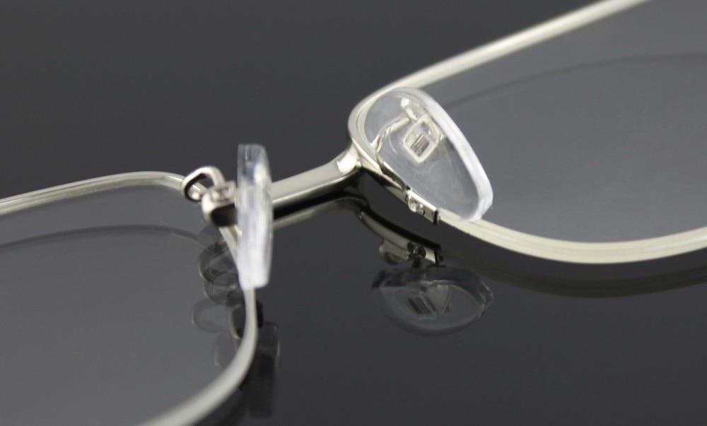 ff490e0e51e Half rimless big frame men s eyeglasses frame memory metal optical ...
