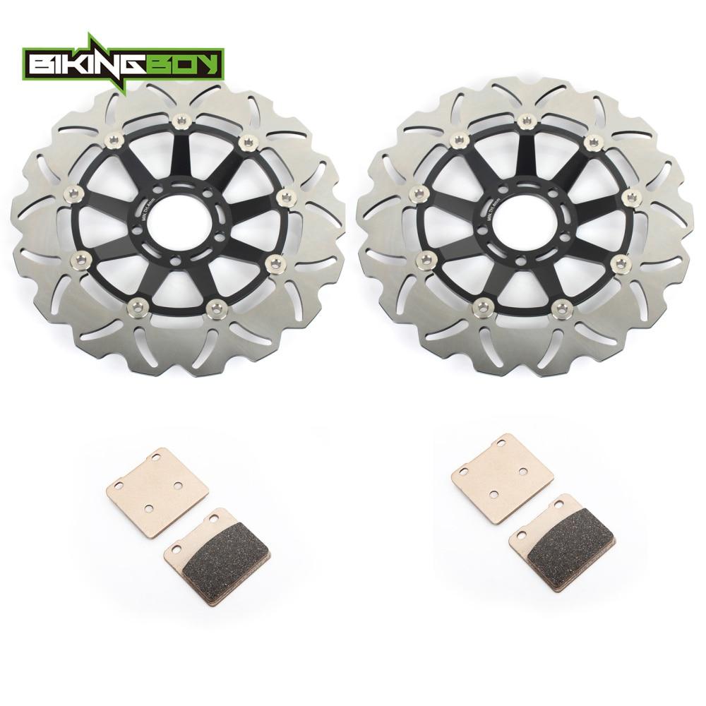 BIKINGBOY 310mm Street Bike Front Brake Discs Disks Rotors