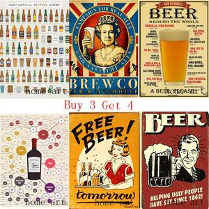Funny Beer Retro Poster Clear