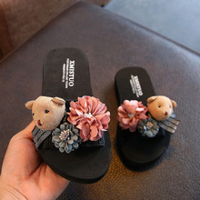 Girls Slippers Women Home Shoes 2019 Summer Comfortable Children Floral Beach Slippers Kids Fashion Casual Flip-flops Sandals цены онлайн