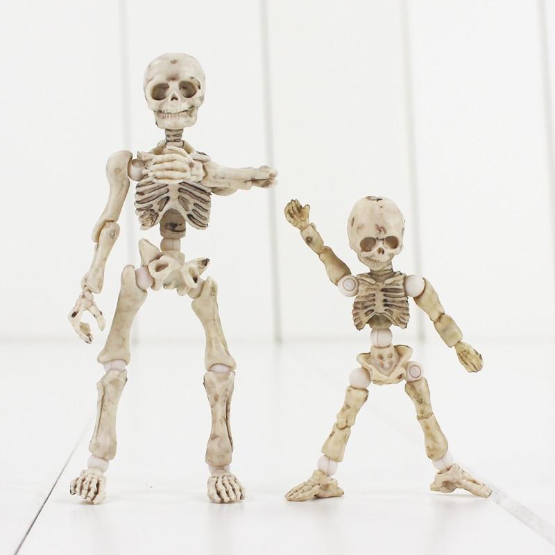 3 8 cm pose figura de acción esqueleto humano adulto niño perro ...