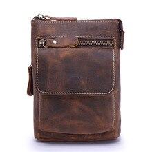 Messenger Bag Men Genuine Leather Real Cow Flap Vintage Designer Handbag Man