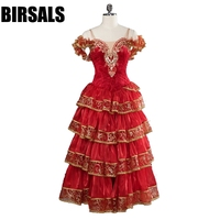 Women Spanish Matador Professional Dance Ballet Dress For Girls Matar Performance Competiton Stage Costume BT9103