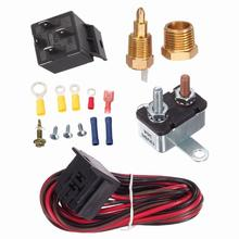 175-185 Degree Car Cooling Fan Thermostat Switch Sensor Relay Harness Kit For 265, 283, 305, 307, 327, 350, 383, 400 Engine