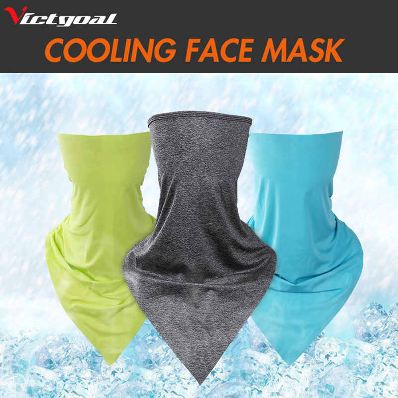 VICTGOAL Summer Cycling Half Face Mask Bike Ride Triangle Ice Fabric Neck Scarf Training Masks Anti-UV Bicycle Sports Facemask