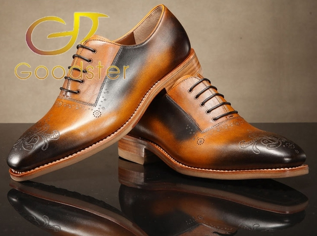 Italy Handcraft Luxury New Design Goodster Shoes Bullock Hand Carved