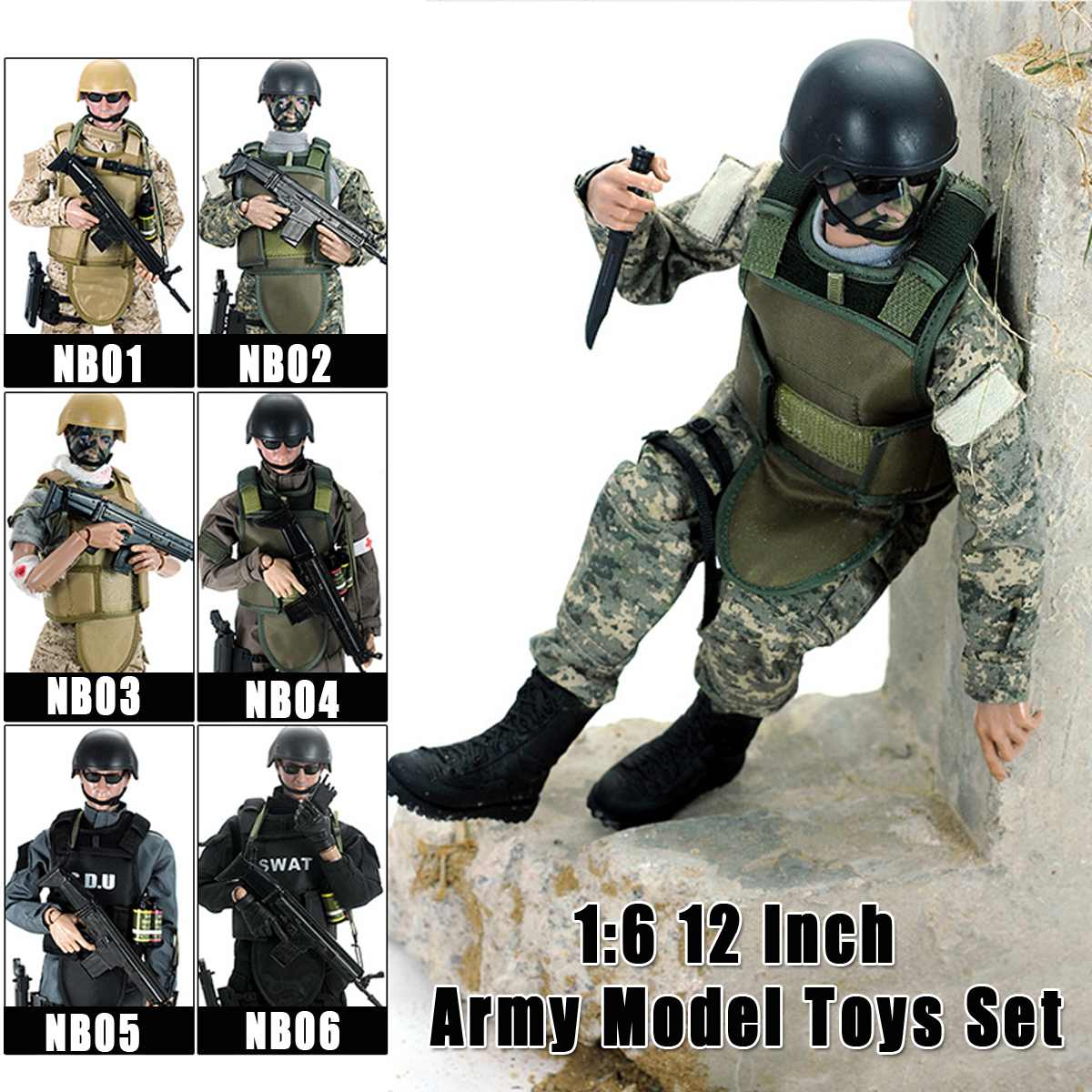12/'/' Army Desert ACU Shooter Soldier Ranger Figures 1//6 Scale Military Model Toy
