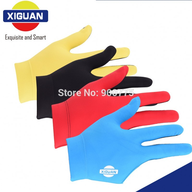 XIGUAN Pool Billiards gloves Left Hand & Right Hand 3 fingers Comfortable Snooker Cue Gloves billiard Accessories