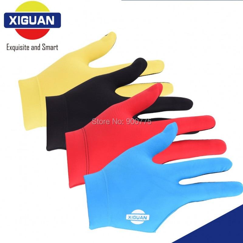 XIGUAN Pool Biljardhandskar Vänster och höger hand 3 fingrar Bekväma Snooker Cue Handskar biljard Tillbehör